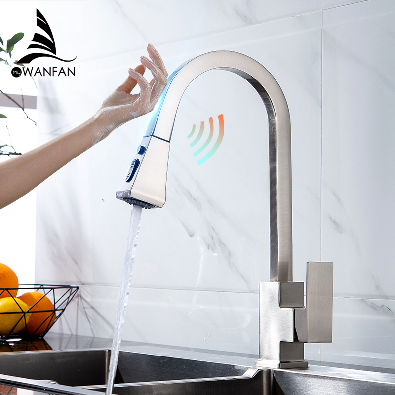 Kitchen Faucets Smart Touch Kitchen Faucets Pull Out Kitchen Water Filter Tap Dual Ways Sink Mixer Kitchen Faucet KH1029