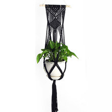 Plant Hanger Pot Hanging Macrame Hook Basket Jute Braided Rope Flowerpot Holder(China)