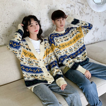 Winter Cardigan Men's Warm Fashion Retro Casual Knitted Pullover Sweater Men Streetwear Wild Loose Couple Sweaters Clothes S-3XL men s sweaters autumn and winter clothes men s jackets sweaters warm winter clothes men s clothes sweater men mens sweaters