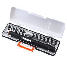 19/30 pcs Rechargeable Screwdriver Set Mini Electric Hex Phillips Kit with Magnetic Bit Extension With Storage Box