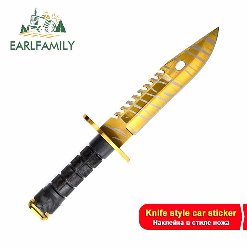 EARLFAMILY 13 см x 13 см для CSGO Skin M9 ножи Авто Наклейка DIY бампер украшение для ремонта автомобиля виниловый устойчивый к царапинам Декор|Наклейки на автомобиль|   | АлиЭкспресс