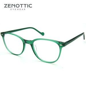 Image 3 - Zenottic Paars Retro Bril Frame Vrouwen Optische Clear Brillen Frame Bijziendheid Verziendheid Vintage Bril Frame