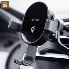 شاحن سيارة Qi لاسلكي لهاتف iPhone Xs Max XR X مستشعر ذكي من سامسونج حامل Char ger لاسلكي سريع في السيارة
