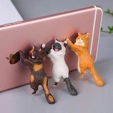 ПВХ милый кот держатель для сотового телефона таблетки настольная автомобильная подставка держатель для мобильного телефона держатели для хранения гаджеты домашний декор