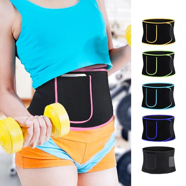 Waist Trainer Sweat Belt Body Shaper for Women and Men with Phone Pocket Bodybuilding Waist Trimmer Belt Weight Loss Sweat Wrap 1