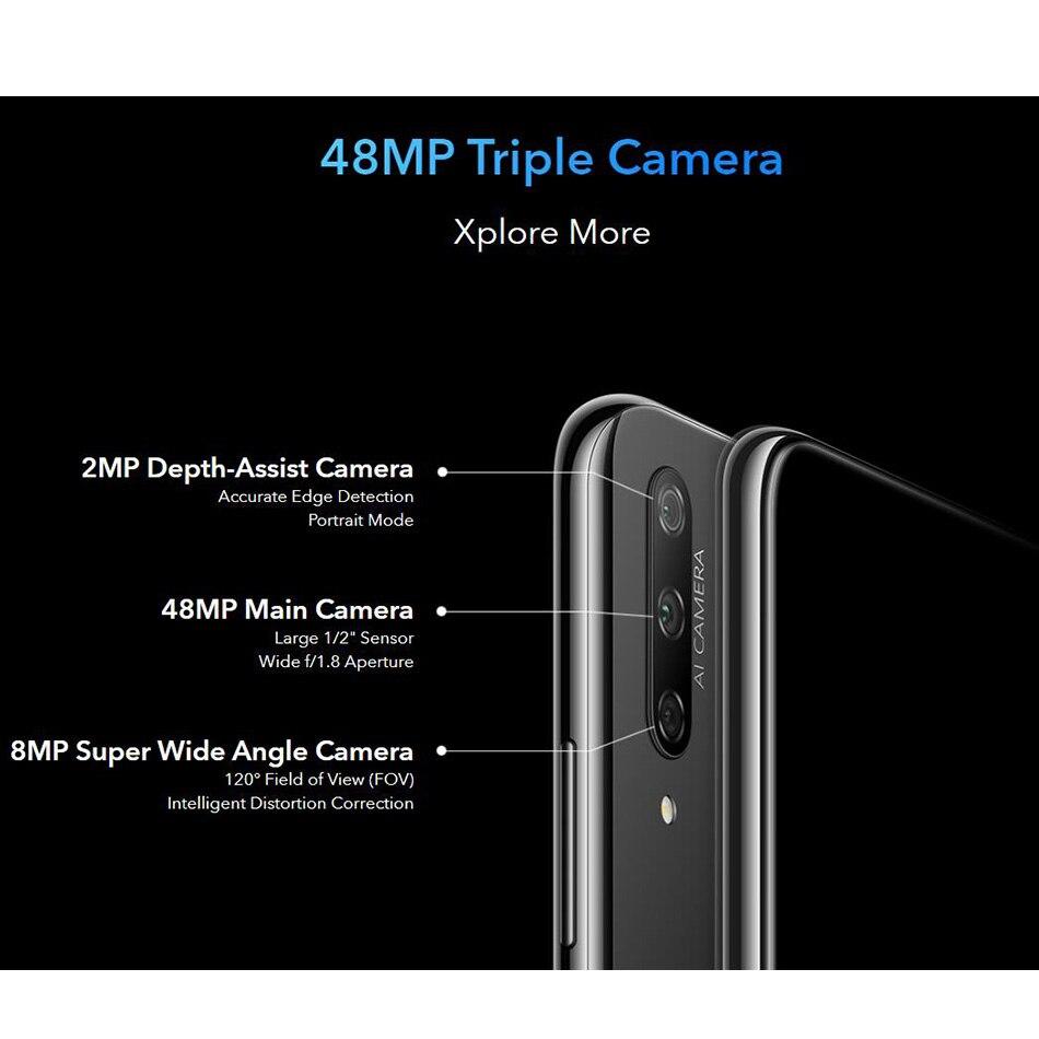 "Global Version Honor 9X 6GB 128GB Mobile Phone Kirin 810 Octa core 6.59"" Fingerprint 4000mAh 48MP Camera Anroid 9 4G SmartPhone Pakistan"