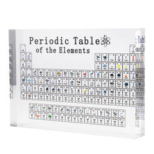 Okresowy układ pierwiastków okresowy wyświetlacz z prawdziwymi elementami dzieci nauczanie nauczycieli dzień prezenty okresowy akryl