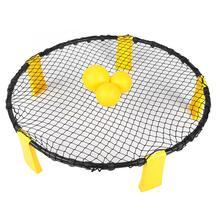 ПВХ волейбольный пляжный волейбол Спайк Игровой Набор Открытый 3 мяч с волейбольная сетка обучение помощь эквивалент