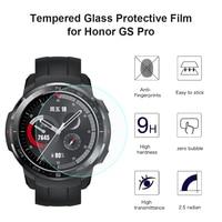 2x filme de tela vidro temperado guarda capa para huawei honra gs pro relógio inteligente pulseira à prova dwaterproof água protetor exibição