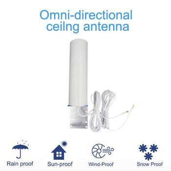 JX 4G LTE antena 3G 4G zewnętrzny antenę antena zewnętrzna z 5M 10M podwójny suwak złącze męskie SMA dla 3G 4G Modem Router