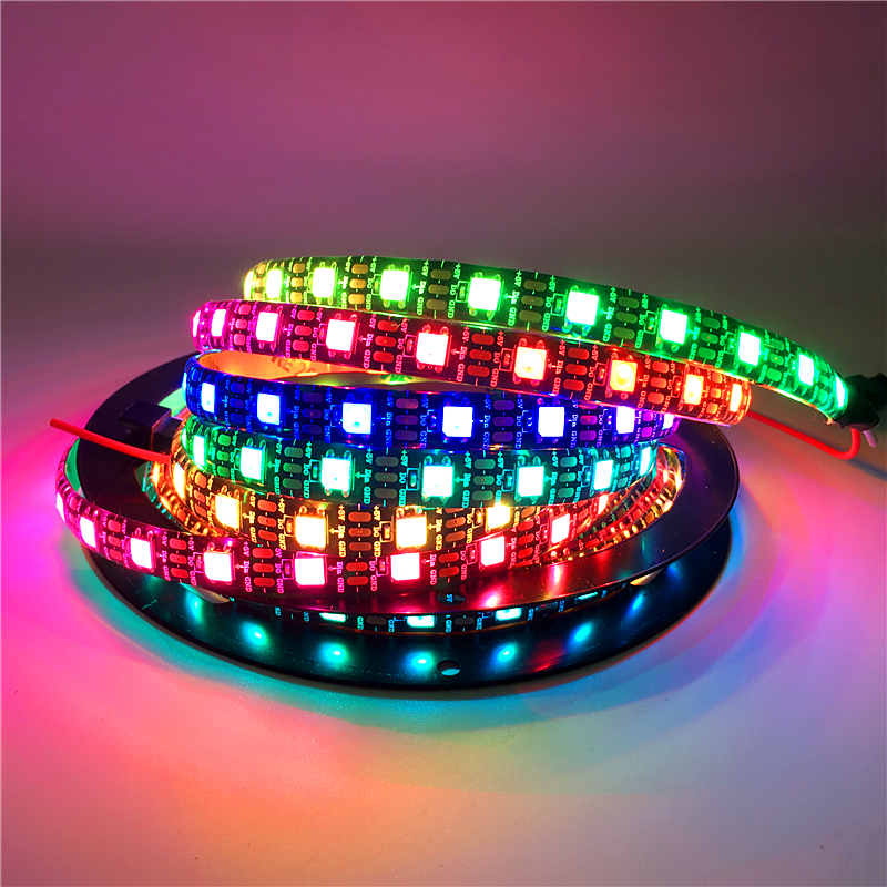 0.5m 1m 2m 3m 4m 5m 60leds/m <font><b>WS2812B</b></font> LED Light Strip 5V SMD <font><b>5050</b></font> <font><b>RGB</b></font> Fita De LED Ribbon TV Luces LED Decoracion Tira LED Tape image