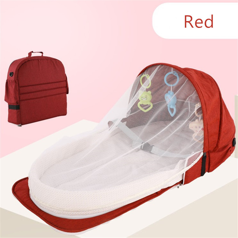 2020 Baby Bed Travel Sun Protection Mosquito Net With Portable Bed Baby Foldable Breathable Infant Sleeping Basket