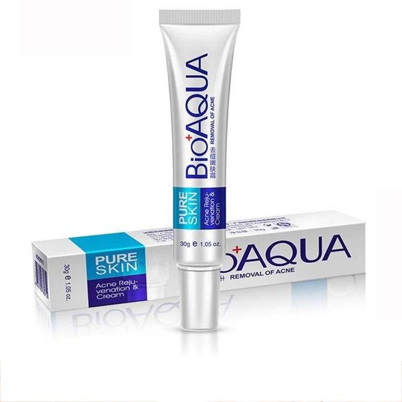 BIOAQUA Face Cream Whitening Skin Care Anti Acne Treatment Cream Oil Control Moisturizing Acne Scar Remover Pores Acne Cream 30g