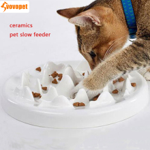 Ceramic pet cat Slow Feeder Anti Choke Cat Dog Food Bowl puppy kitten slow down eating Bowls Dish dog Bowel Prevent Obesity