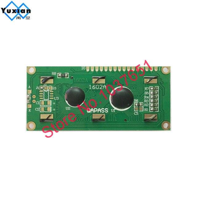 LCD 1602A 16x2 1602 module daffichage lcd avec caractère de police cyrillique russe 5v bleu blanc jaune vert 2 pièces livraison gratuite