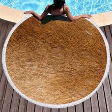 Multicolor Animal Skin Pattern Summer Round Beach Towel with Tassels Towels Picnic Yoga Mat Travel Toalla De Playa 2019