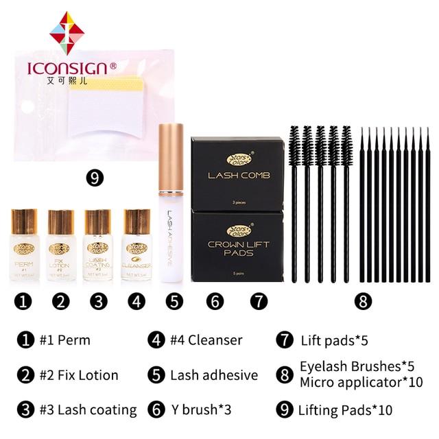 Drop shipping Fast Perm Mini Eyelash Kit Lashes lift Cilia Make Up Perming Lifting Growth Treatments Brushes Pads Beauty Tools 1