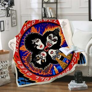 Image 5 - Plstar Cosmos Band Kus Rock & Roll Alle Nite Party Deken 3D Print Sherpa Deken Op Bed Huishoudtextiel Dromerige stijl 11