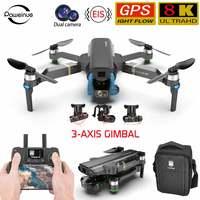 Dron teledirigido con cámara de 8k, cuadricóptero con cardán de 3 ejes, hd, ufo, eachine ex4 sg906 pro, gps, 4k