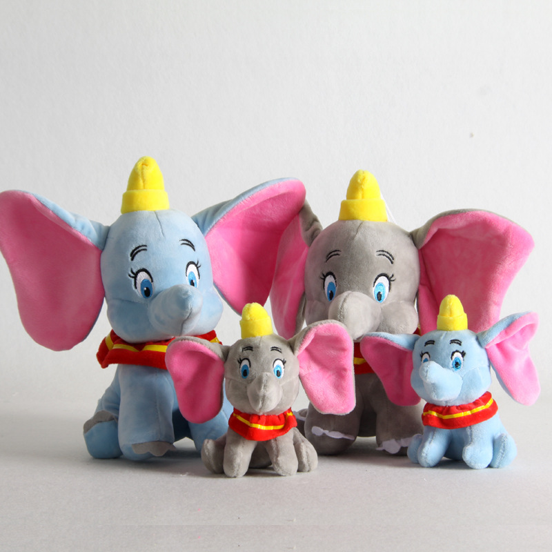 15/25cm  Cute Dumbo Plush Keychain Plush Toys Lovely Elephant  Stuffed Plush Toy