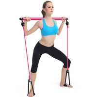 Portable Pilate Bar Kit With Resistance Band Adjustable Pilates Exercise Stick Toning Bar For Fitness Home Yoga Gym Body WorkOut