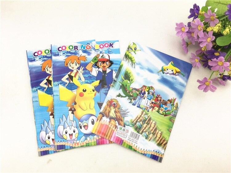 Книга-головоломка Пикачу Покемон раскраска эта многоцветная наклейка эскиз ЭТА цветная ручка детская живопись игрушки подарок для детей