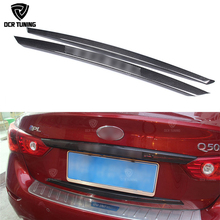 Cover Carbon-Fiber Q50S Trim for Infiniti Trunk with Logo
