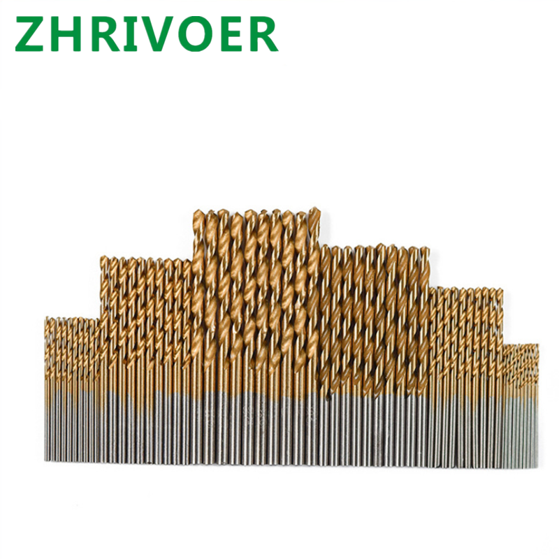 High Speed Steel Twist Drill With Titanium Plated Straight Shank 60pcs Combination Set Stainless Steel Metal