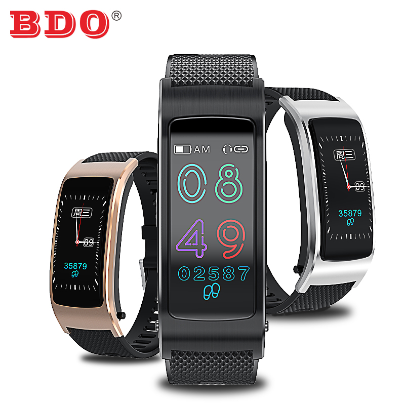 BDO <font><b>F5</b></font> Headphone Fitness Bracelet 2 in 1, Smart Bracelet Wireless Sport Earphone IPX7 Waterproof Talk Band Fitness Tracker image
