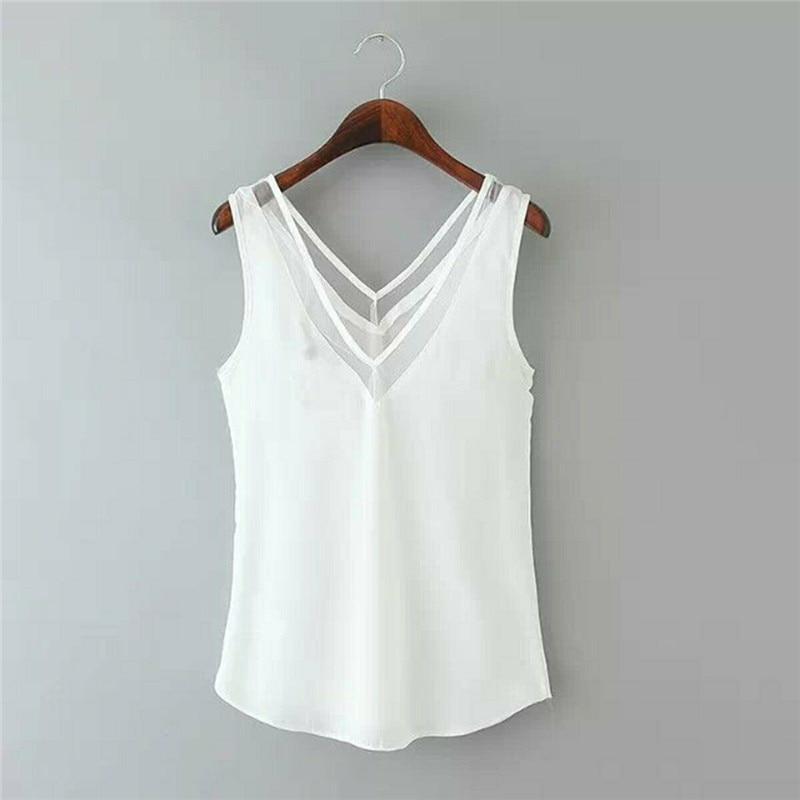 2019 New Fashion Shirt Women Elegant Blouses Vintage Sleeveless Shirts Casual Plus Size Women Clothing Blusas