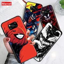 Funda de silicona para teléfono móvil, carcasa negra de los Vengadores de Marvel, superhéroes Venom, para Xiaomi Poco C3, M3, M2, X3, NFC, X2, F3, F2, F1, Mi Play, A3, A2 Pro, TPU