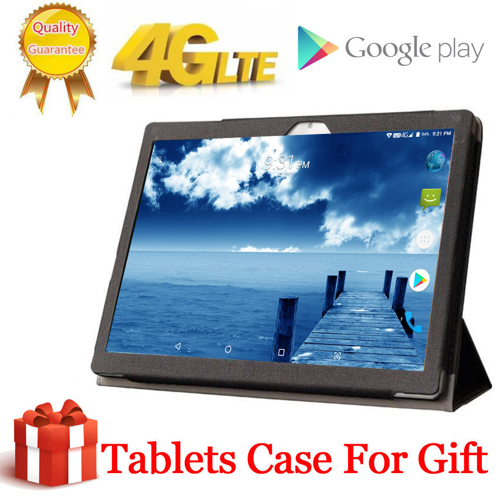 2020 Free Gift Tablet Case Cover 4G LTE 10.1 Inch 2.5D Tablet Pc 2560x1600 10 Deca Core MTK6797 8GB RAM 256GB ROM Android 8.0