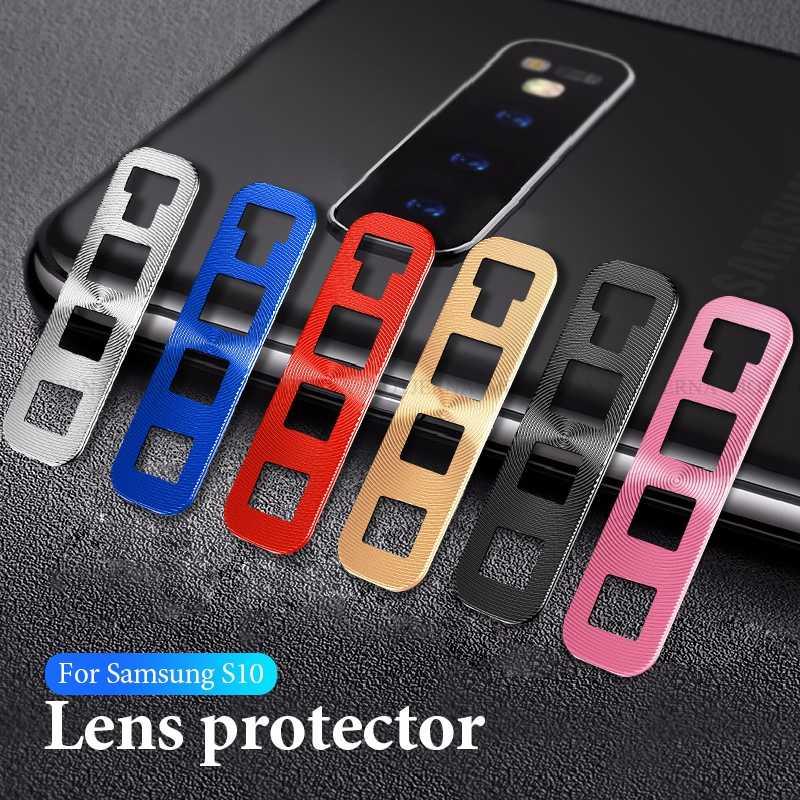 Защита объектива камеры металлический корпус для samsung Galaxy S10 Plus A30 A50 Камера Лен экран протектор бампер крышка