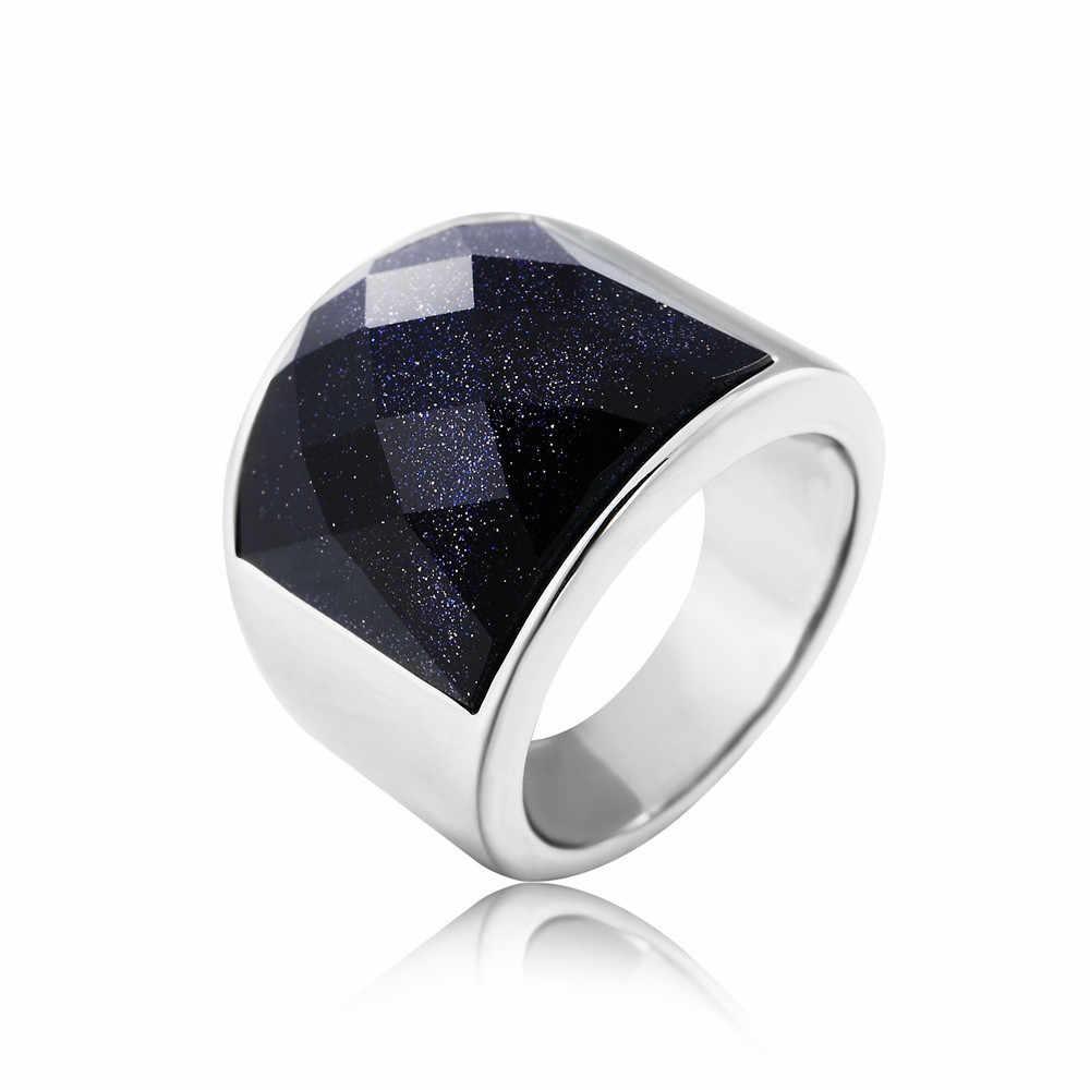 Мужской большой агат драгоценный камень черное кольцо фиолетовый камень золото Белый Титан Нержавеющая сталь Америка крутые вечерние большие драгоценные sizes7-12