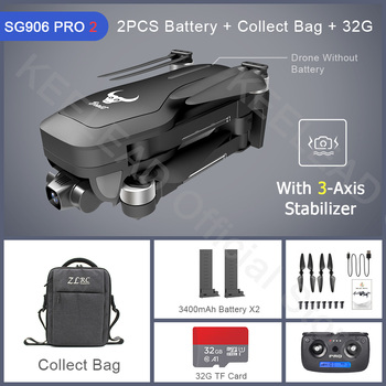 ZLRC Beast SG906 Pro 2 Brushless Motor with 3-Axis Gimbal GPS 5G WIFI FPV Professional 4K Camera RC Drone Quadcopter Dron PRO2 9