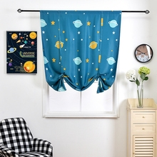 Modern Planet printed Short Curtains For Living Room Bedroom Window Drapes Curtains For Kitchen Blackout Curtains Drapes Door modern castle printed blackout curtains for living room bedroom window thick curtain drapes children cloth curtains for kid