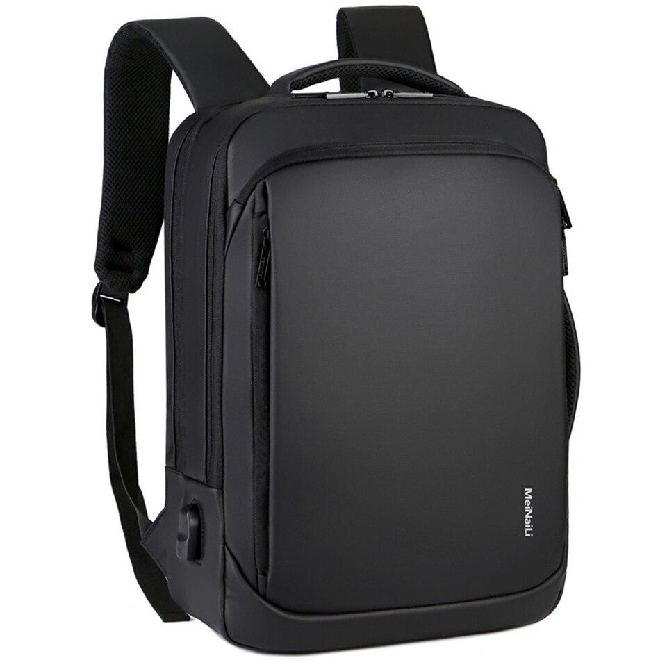 Loozykit Laptop Rugzak Mens Man Rugzakken Zakelijke Notebook Mochila Waterdichte Back Pack Usb Opladen Tassen Reizen Rugzak