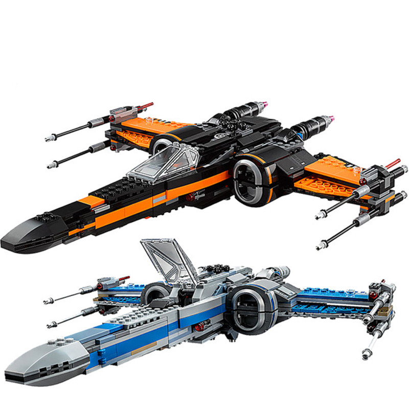 Star Wars Legoinglys Blocks First Order Poe's X-wing Fighter Model Building Blocks Starwars Bricks Toys Gift Kids