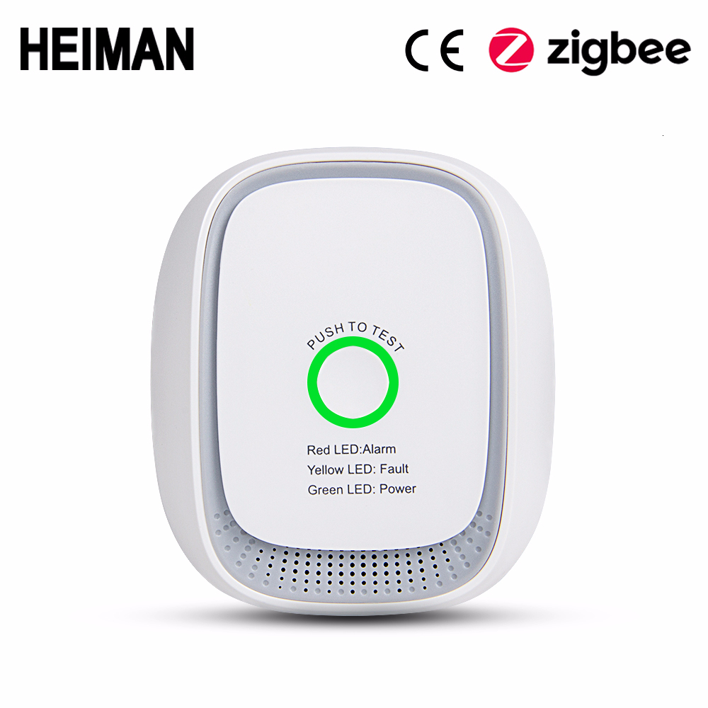 HEIMAN Zigbee Combustible Gas Leak Detector Fire Security Alarm System Safety Smart Home Leakage Lpg Sensor HA1.2