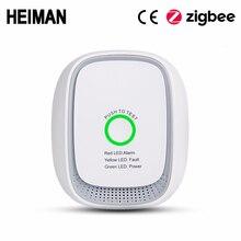 HEIMAN Zigbee yanıcı gaz kaçak dedektörü yangın güvenlik alarm sistemi güvenlik akıllı ev kaçak lpg sensörü HA1.2