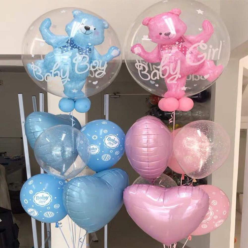 59 * 69cm Large Bubble Bear Aluminum Foil Helium Balloons Boy Girl Baby Shower Wedding Decoration Birthday Party Classic Toys