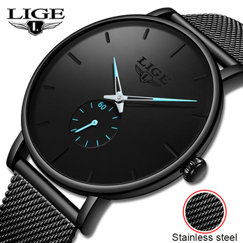 LIGE 2020 New Fashion Sports Mens Watches Top Brand Luxury Waterproof Simple Ultra-Thin Watch Men Quartz Clock Relogio Masculino сумка dkny dkny dk001bwavtx8