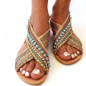 sandale ethnique fantaisie boho