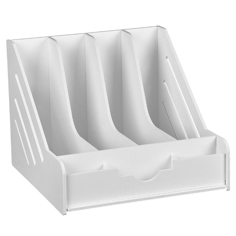 4 Pockets Expanding File Folder A4 Organizer Portable Business File Office Supplies Document Holder