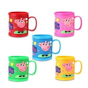 Taza para beber de Peppa Pig para niña, taza para beber de cerdito rosa para niña con asa, regalo de cumpleaños para Personaje de Anime y niño