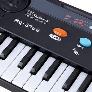 Image 5 - 37 מפתחות רב תכליתי מיני אלקטרוני מקלדת פסנתר מוסיקה צעצוע עם מיקרופון חינוכיים Electone מתנה לילדים תינוקות