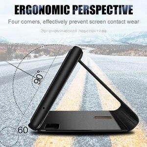 Image 2 - スマートミラーフリップ電話のカバーoppo realme 8プロケースRealme8 realmi realmy 8Pro Realme8pro磁気coque fundas