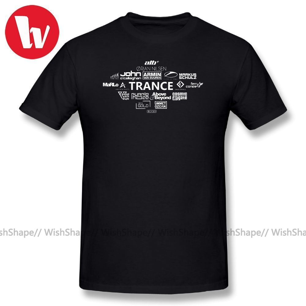 Armin Van Buuren T Shirt TRANCE DJs-Armin Marlo State Of Trance T-Shirt Men Fun Shirt Cotton T Shirts Basic T-Shirt Men Graphic