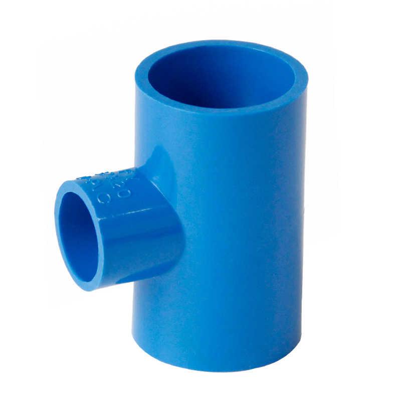 20mm 25mm 32mm 40mm 50mm מזהה טי כחול PVC צינור משותף צינור התאמת מצמד מתאם מים מחבר עבור אקווריום דגי טנק