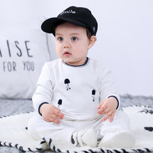 Baby Boys Long Sleeve Trousers Suit Split Autumn Clothing 3-24M Baby Fashion Children Cotton Spring and Autumn Outing Clothes